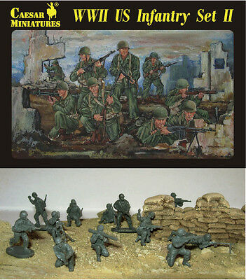 Caesar Miniatures H071 WWII US Army Infantry #2 1/72 Scale Model Figures