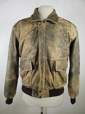 VTG Men's Type A-2 Bomber Leather Jacket Size M A2837