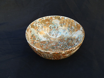 Outstanding Quality Antique Japanese Satsuma Porcelain Bowl Meji Period Signed