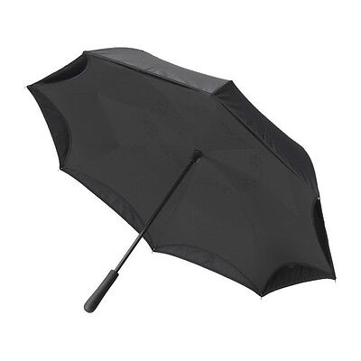 "NEW! Better Brella Umbrella Black Reverse Open  41.5"" FREE SHIPPING"