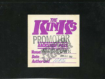 The Kinks  1981 BS pass satin Give The People What They Want 1/12/82 Allentown