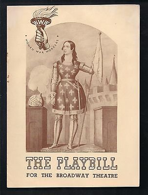 1943 THE STUDENT PRINCE The Broadway Theatre Theater Program - as is
