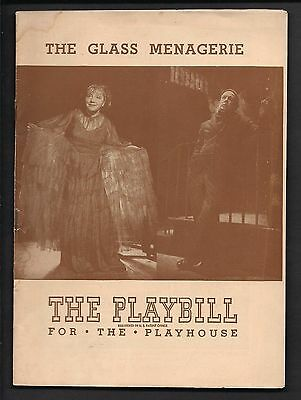 1946 Playbill The GLASS MENAGERIE Playhouse Theatre Theater Program