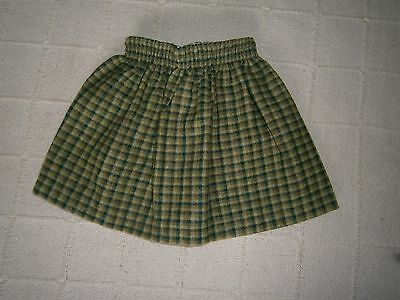 Vintage Ladybird Skirt - Age 2 - 92 cm - Green Check - Acrylic/Wool Mix - New