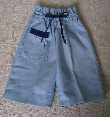 Vintage Girls Bermuda Shorts - Age 3-4 Years Approx- Blue/Navy Trim - New