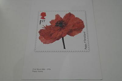 Limited Edition 2014 Poppy Stamp Design Print (by F.Stickland)