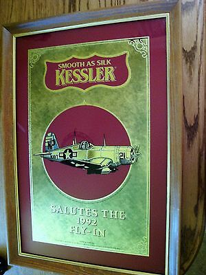 "OSHKOSH WI. ""KESSLER SMOOTH AS SILK"" 1992 EAA FLY- IN MIRROR WWII pilot Navy"