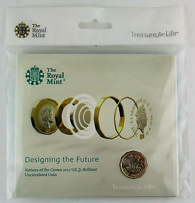 2017 Royal Mint New 12 sided £1 coin, Brilliant Uncirculated coin pack, Sealed