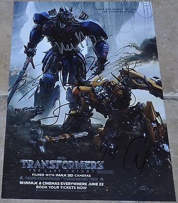 Transformers The Last Knight Multi Signed A4 Poster