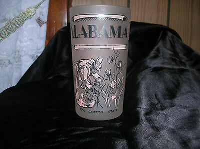 REDUCED!  Vintage Alabama Souvenir Glass