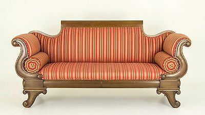 Antique Sofa | Victorian Mahogany Scroll Arm Sofa | Antique Settee |  B707
