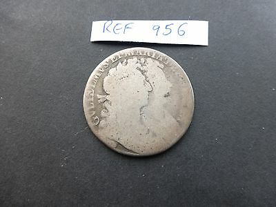 William & Mary 1689 silver  Half Crown coin filler      Ref 956