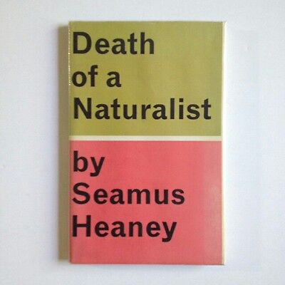SIGNED Seamus Heaney 1st Death Of A Naturalist D/W Rare Book Poetry Autograph