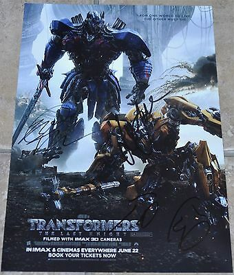 Transformers The Last Knight Multi Signed A4 Poster #3