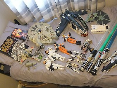star wars job lot of toys, some vintage ,some not. all played with.