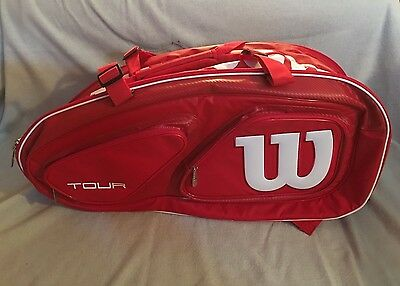 Wilson Tour V Red 15 Pack Tennis Bag with Thermoguard 2.0