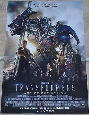 Transformers Age Of Extinction Signed Photo Michael Bay