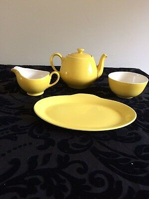 Alfred Meakin Yellow Sol Vintage/Retro Tea set 1950s