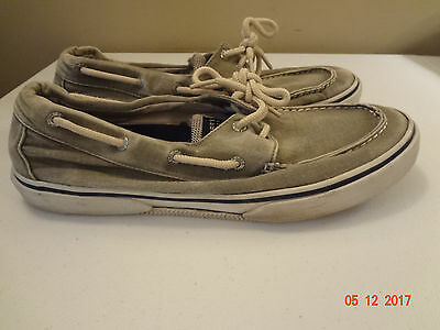 Sperry Top-Sider Mens 2 Eye Canvas Boat Shoes #0777853 - Size 11.5 M