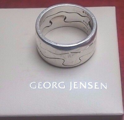 Rare! Georg Jensen Vintage 3 Piece Fusion Ring Sterling Silver # 368