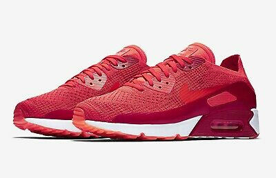 NIKE AIR MAX 1 Ultra Flyknit Bright Crimson White Red Sz 13