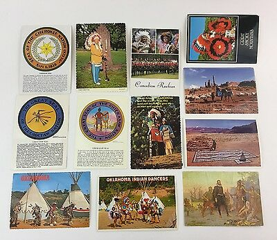 Native American Indian postcards - 3 Seals, Various Tribes Chrome Lot of 12