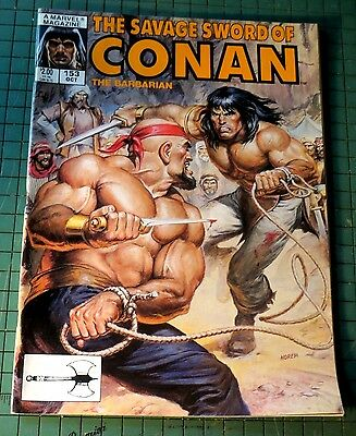 The Savage Sword of Conan #153 Copper age Comic Mag Format Sh1
