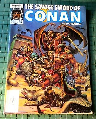 The Savage Sword of Conan #123 Copper age Comic Mag Format Sh1