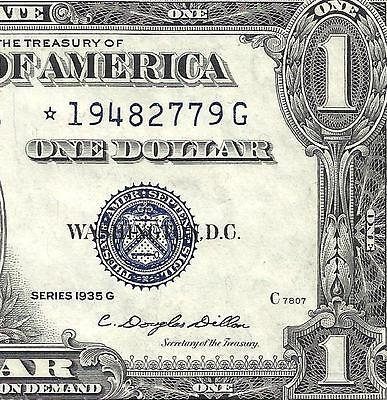 1935G $1 *STAR* With MOTTO! CRISP CHOICE XF! SCARCE! Old US Paper Money!