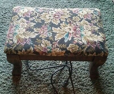vintage heated foot stool, tested and works Victorian looking. Solid and ready