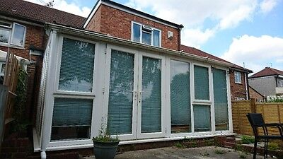 Upvc Conservatory (Lean to style) White 5.2m x 3.4m