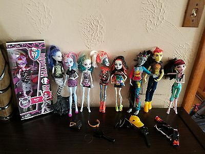 Monster High Dolls 11 lot 2 boys, one new in box