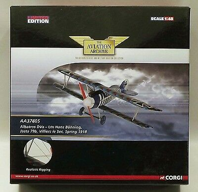 Corgi Aviation Archive AA37805 Albatros Dva Hans Boehning 1/48 Scale Model