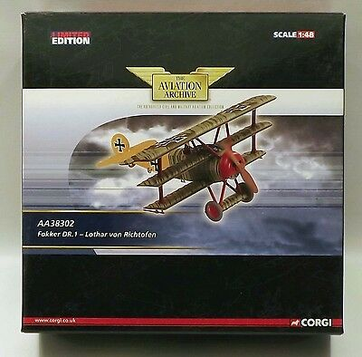 Corgi Aviation Archive AA38302 Fokker Dr1 Lothar von Richtofen 1/48 Scale Model