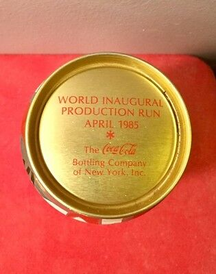 NEW Coke World Inaugural Gold Top Can April 1985 ( Coca-Cola's biggest blunder )