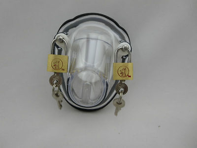 Brand New Clear Full Chastity Male Chastity Belt CB Free U.K Delivery