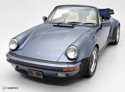 1989 Porsche 930 911 Carrera Turbo Cabriolet  Turbo Cab Cabriolet Convertible Blue 1 of 181 Extremely Rare 1988 1989