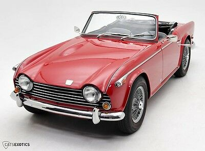 1968 Triumph TR5 PI Roadster  Restored FI Fuel Injected Wire Wheels Left Hand Drive 1967 1969 TR5 Red