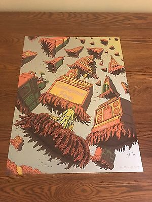Widespread panic poster WARNER Theatre  dc 4/21/15 James Flames silver FOIL