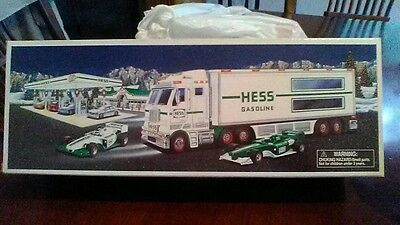 Collectable Hess truck with 2 race cars 2003