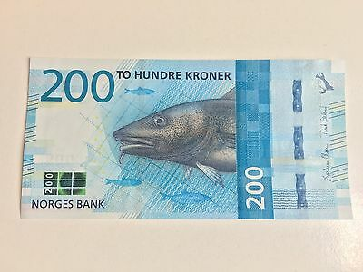 Norway 200 Kroner P-New 2017  Unc
