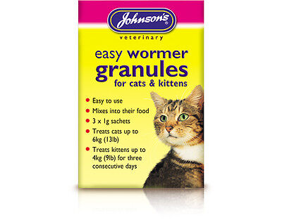 Johnson's Easy Round Wormer Granules for Cats & Kittens