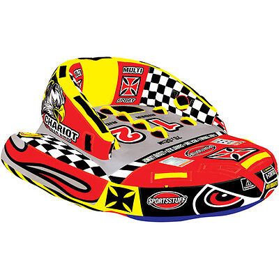 SportsStuff Chariot Warbird 2, Red and Yellow