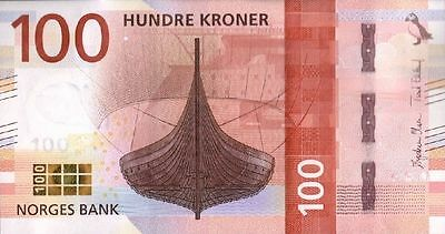 Norway 100 Kroner P-New 2017  Unc