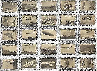 Germany 25 MNH poster stamps Luftfahrerdank plane biplanes & Zeppelins