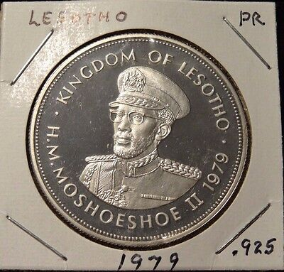 Lesotho 1979 Independence 10 Maloti Silver Coin,Proof