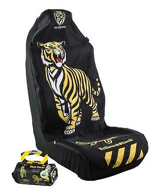 OFFICIAL AFL CAR SEAT COVER x 1 - RICHMOND - FITS 1 BUCKET SEAT