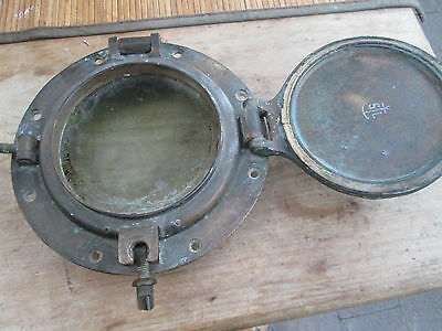 porthole solid brass simpson lawrence  glasgow original . with dead light cover.