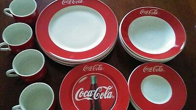 coca cola dish set made by Gibson 1996