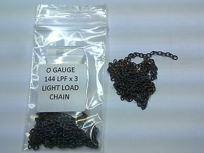O Gauge scale wagon LIGHT LOAD CHAIN 3 x 144 chain links per foot ( 3+Ft = 1m )
